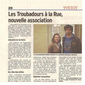 Le Courrier Cauchois du 11 janvier 2013