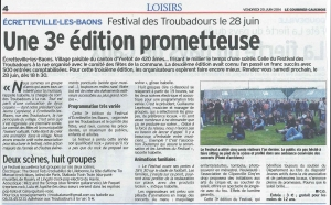 Le Courrier Cauchois du 20 juin 2014