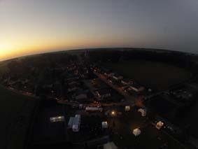 Au crépuscule, le Festival vu du ciel